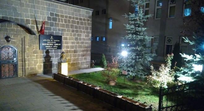 Erzurumlu Emrah Edebiyat Müzesine ışıklı imaj